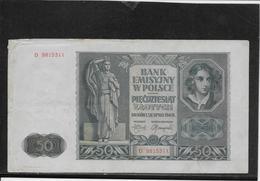 Pologne - 50 Zlotych - Pick N°96 - 1941 - TB - Pologne
