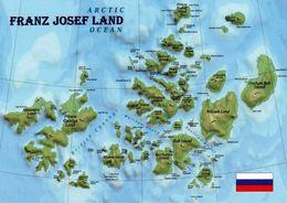 1 Map Of Franz Josef Land * 1 Landkarte Mit Der Russischen Inselgruppe Franz Josef Land - Liegt Im Arktischen Ozean * - Landkarten