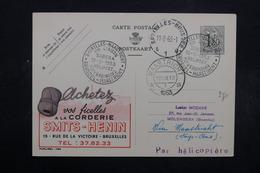 BELGIQUE - Entier Postal Publibel De Bruxelles Pour Molenbeek Via Maastrich Par Hélicoptère En 1953 - L 32477 - Stamped Stationery