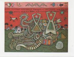 Postcard - Art - Alan Davie - Enchanted Village, Card  No.4,  New - Postcards