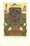 China, Chinese Dragon Coat Of Arms Litho Postcard (1899) - China