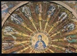 CPM Non écrite Turquie ISTANBUL Musée Kariye Coupole De La Vierge Et Le Christ  Bébé Entouré De Ses Aieux - Türkei