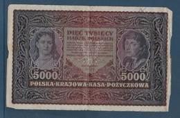 Pologne - 5000 Marek - Pick N°31 - 1920 - B/TB - Pologne