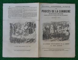Document Le Procès De La Commune - Débats Du Conseil De Guerre - Au Père Lachaise, Les Derniers Retranchements - Storia