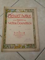 Menuet Noble -(Musique Victor Dolmetsch) - Partition (Piano)1904 - Instruments à Clavier