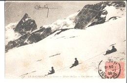 536. Le Dauphiné. Le Glacier Du Lac. Une Glissade. De Soulès Télégraphiste Au Fort Rabot à Grenoble à Marie à Galan. - Autres Communes