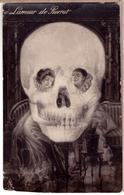 Skull Lamour De Pierrot Skull Metamorphic Surrealist Fantasy Original ~1915 PC - Photographie