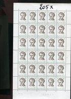 Belgie 1970 1559 Baers Luppi Full Sheet MNH Plaatnummer 4 - Full Sheets