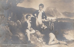 ERZHERZOG KARL LUDWIG, FRANZ JOSEF (stehend), U.FERDINAND MAX 1844 …  - Kunstverlag B K W I, - Familles Royales