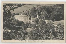 Allemagne Germany - Kurhaus Bad Schwarzbach I. Isergebirge , écrit Attendant Le Rapatriement 1945 Dans Cet Hotel Avec .. - Schlesien