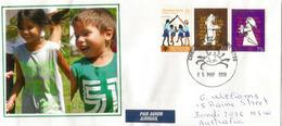 Les Visages D'enfants De L'île Christmas, Océan Indien, Sur Lettre Adressée En Australie - Christmas Island