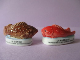Fèves Brillantes - Le Mérou Et La Rascasse - Protégeons La Mer - WWF - Champion - Animals