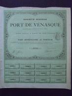 STE MINIERE DU PORT DE VENASQUE - PART BENEFICIAIRE - 1905 - Shareholdings