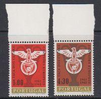 Portugal 1962 Benfica European Champion Football 2v (+margin) ** Mnh (43198) - 1910-... República