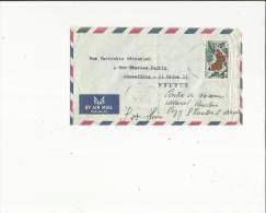 Enveloppe Timbrée Par Avion De Mr Simon Hovivian A Biskinta Liban Adressé A Mme Vartouki Derounian - Libanon