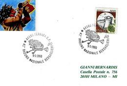 ITALIA - 1993 FERRARA 41° Raduno Nazionale Bersaglieri (cappello, Tromba) - Militaria