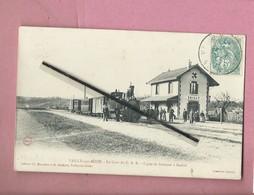 CPA -   Vailly Sur Aisne - La Gare Du C.B.R. - Ligne De Soissons à Rethel  -(  Train , Locomotive ) - France