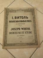 Berceuse & Étude -(Musique Joseph Wihtol) - Partition (Piano) - Instruments à Clavier