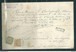 Remboursement Met Stempel ST GILLES BELLES MONAIE Nestor Botte Bruxelles - 1884-1891 Léopold II