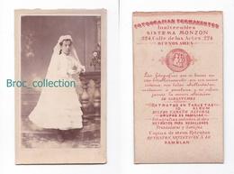 Photo Cdv D'une Communiante, Jeune Fille, Fillette, Sistema Monzon, Buenos Aires, Album Seguin, Circa 1875 - Anciennes (Av. 1900)