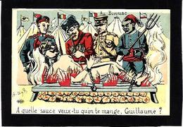 CPA Négritude Turco Satirique Caricature Guerre War WWI Anti Kaiser Germany  Non Circulé Russie - Humoristiques