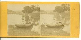 PHOTO STEREOTYPE SUR SUPPORT CARTON / EN BARQUE - Anciennes (Av. 1900)