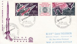 TAAF PREMIER JOUR 1975 PA41A Opération Araks 26-01-1975 - FDC