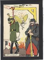 CPA Zeppelin Aviation Satirique Caricature Guerre War WWI Anti Kaiser Germany  Non Circulé - Humour
