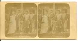 PHOTO STEREOTYPE SUR SUPPORT CARTON / SOLDATS D'EMPIRE - Anciennes (Av. 1900)