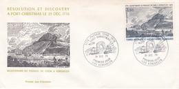 TAAF PREMIER JOUR 1976 PA47 Passage De Cook à Kerguelen 31-12-1976 Kerguelen - FDC