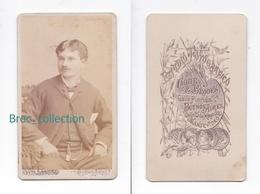 Photo Cdv D'un Jeune Homme, Photographe Chute & Brooks, Buenos Aires, Album Seguin, Circa 1875 - Anciennes (Av. 1900)