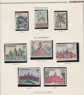 CAMBODGE  - DIVERS TIMBRES NEUFS EMISSIONS DE 1965-66 ET 1967 - 2 SCANS  / TB2 - Cambodge
