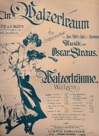 Walzerträume  Wamzer Nach Motiven Der Opérette EIN WALZERTRAUM Von Oscar Strauss 1907 état Moyen - Scores & Partitions