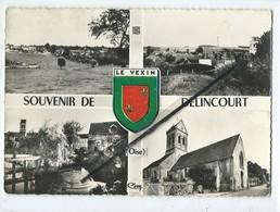 CPSM Grand Format -  Souvenir De Délincourt  - Blason Le Vexin -(  Multivue , Multivues ) - Frankreich