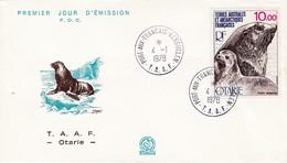 TAAF PREMIER JOUR 1977 N° 48 Otarie 04-01-1978 Kerguelen - FDC