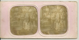 PHOTO STEREOTYPE SUR SUPPORT CARTON / SCENE DE BAL - Anciennes (Av. 1900)