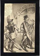 CPA Champagne Satirique Caricature Guerre War WWI Anti Kaiser Germany  Circulé Autriche - Humour
