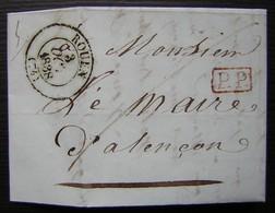 Rouen 1838  Port Payé Pour Le Maire D'Alençon - 1801-1848: Precursors XIX