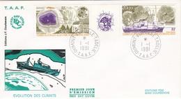 TAAF PREMIER JOUR 1991 PA117A Etude Des Climats 01-01-1991 Terre Adélie - FDC