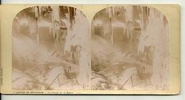 PHOTO STEREOTYPE SUR SUPPORT CARTON / GROTTES DE BETHARRAM - LA CHAIRE ET LE BASSIN - Anciennes (Av. 1900)