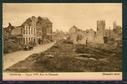 19/6 Belgique Belgie WW1 Guerre 14/18 Ypres Ieper 2 Scans Non Voyagé Ruines Rue De Dixmude - Ieper