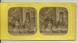 PHOTO STEREOTYPE SUR SUPPORT CARTON / SCENE DE THEATRE - ENTREE D'ORPHEE AUX ENFERS - Anciennes (Av. 1900)