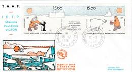 TAAF PREMIER JOUR 1991 PA120A Expédition Paul-Emile Victor 18-12-1991 Terre Adélie - FDC