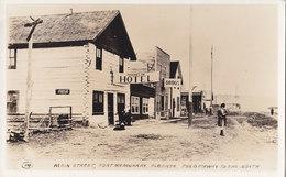 RPPC REAL PHOTO POSTCARD FORT MCMURRAY MAIN STREET COCA COLA SIGN - Alberta