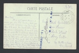 Guerre 14-18 CP De Dunkerque TAD Army Post Office S.10 Du 4 May 1915 Vers Long Eaton (Angleterre) - Postmark Collection (Covers)