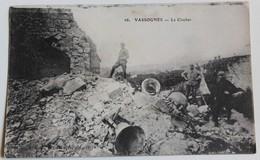 CPA Vassognes 1917 Le Clocher 3 Soldats Guerre 14-18 WWI - War 1914-18