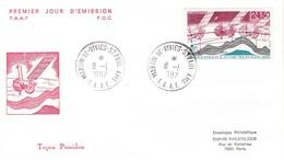 TAAF PREMIER JOUR 1992 N° PA123 Topex Poséidon 08-01-1992 St Paul Et Amsterdam - FDC