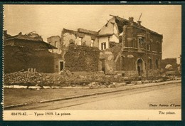 19/6 Belgique Belgie WW1 Guerre 14/18 Ypres Ieper 2 Scans Non Voyagé Ruines La Prison - Ieper