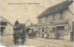~  JP  ~  95  ~     FONTENAY   En   PARISIS   ~     Bureau De L' Omnibus  + Pub + Attelages ~   EN   L ' ETAT  ~ - France
