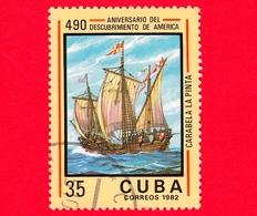 CUBA - Nuovo Obl. - 1982 - 490 Anni Della Scoperta Dell'America - Caravella 'La Pinta' - 35 - Cuba